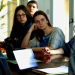 students-of-Mantoulides-school-MyEducation-listening-Stavros-Koumentakis-at-Koumentakis-and-Associates-offices