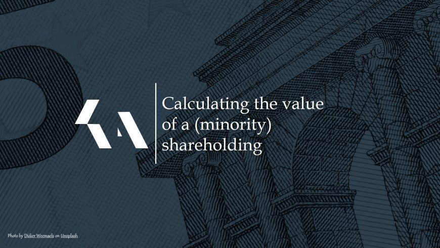Calculating the value of a (minority) shareholding