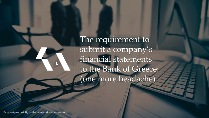 Submission of financial statements to the BoG