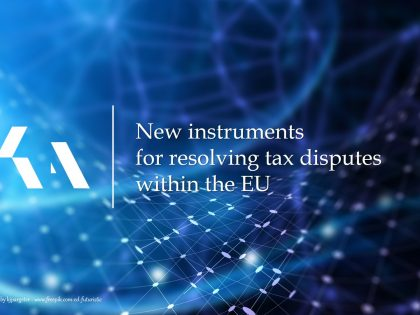 New instruments for resolving tax disputes within the EU