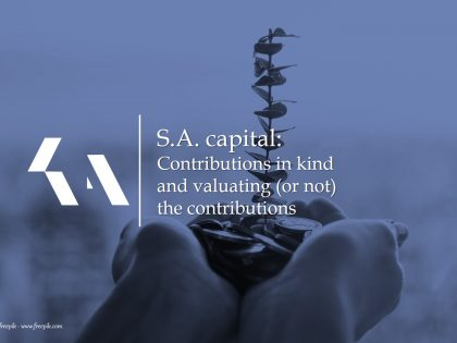 S.A. capital: Contributions in kind and valuating (or not) the contributions